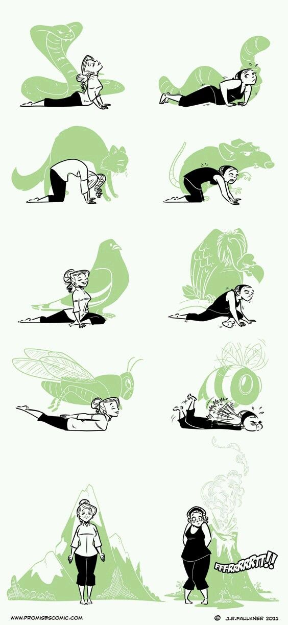 Explore Yoga Illustration Funny Poses And More