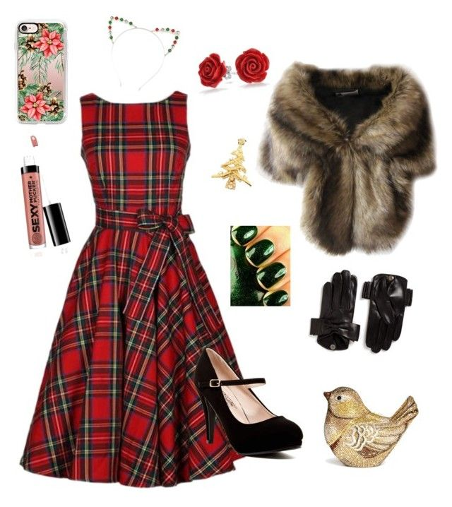 """Xmasday"" by ida-christena-gammon on Polyvore featuring Bling Jewelry, Maison Fabre, Judith Leiber, Casetify and Red Camel"
