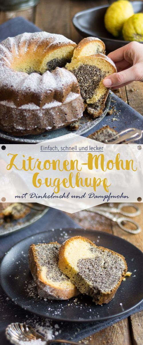 Zitronen-Mohn-Gugelhupf mit Dinkelmehl - Ina Isst