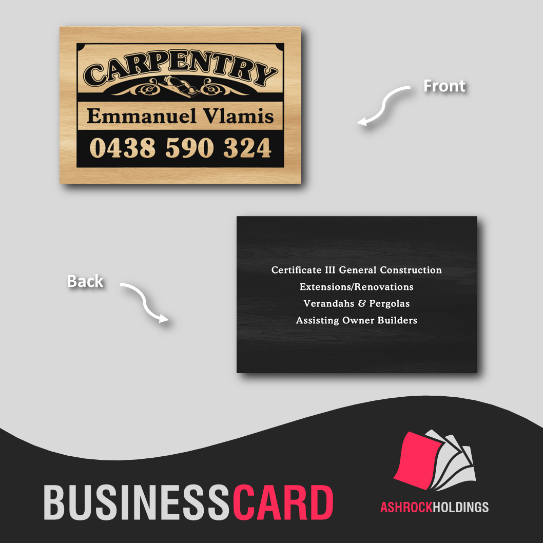 Carpentry Business Card | #bsuinesscard #carpentry #builder #printer ...