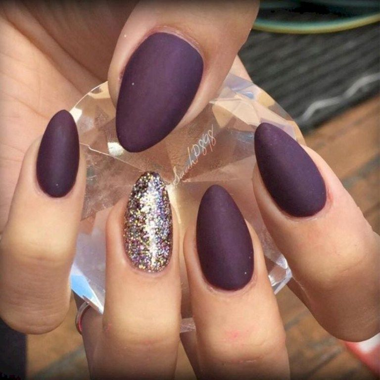 75 Outstanding Classy Winter Nails Art Design Ideas Almond Nails