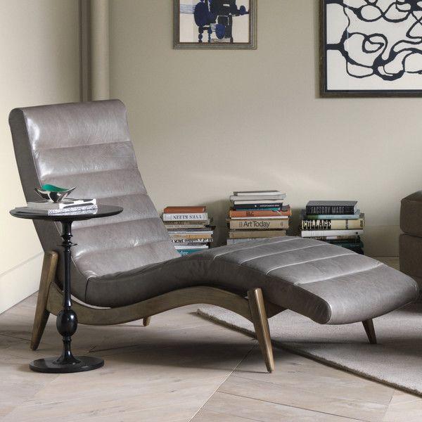 DwellStudio Hans Leather Chaise
