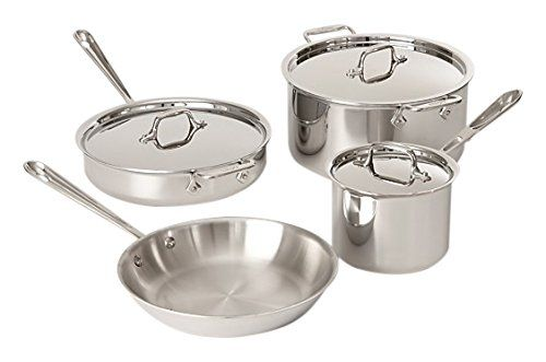 All Clad Tri Ply Stainless Steel 7 Piece Cookware Set Be Sure To Check Out This Awesome Prod Cookware Set Stainless Steel Cookware Set Cookware Set Nonstick
