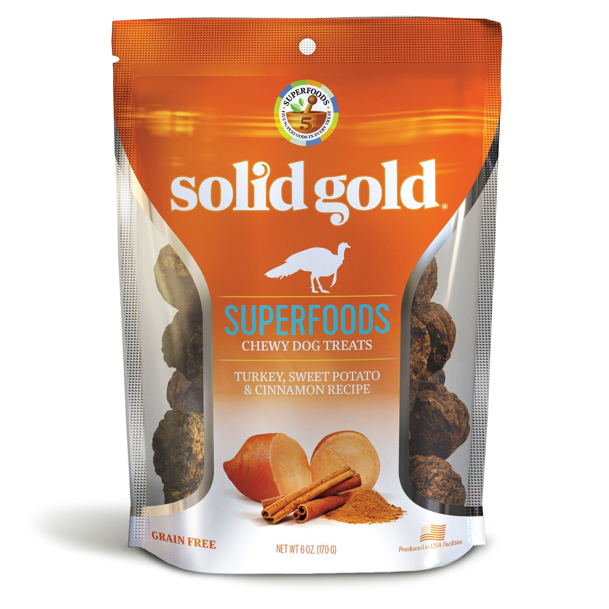 Solid Gold Superfoods Chewy Dog Treats Grain Free Size 6 Oz
