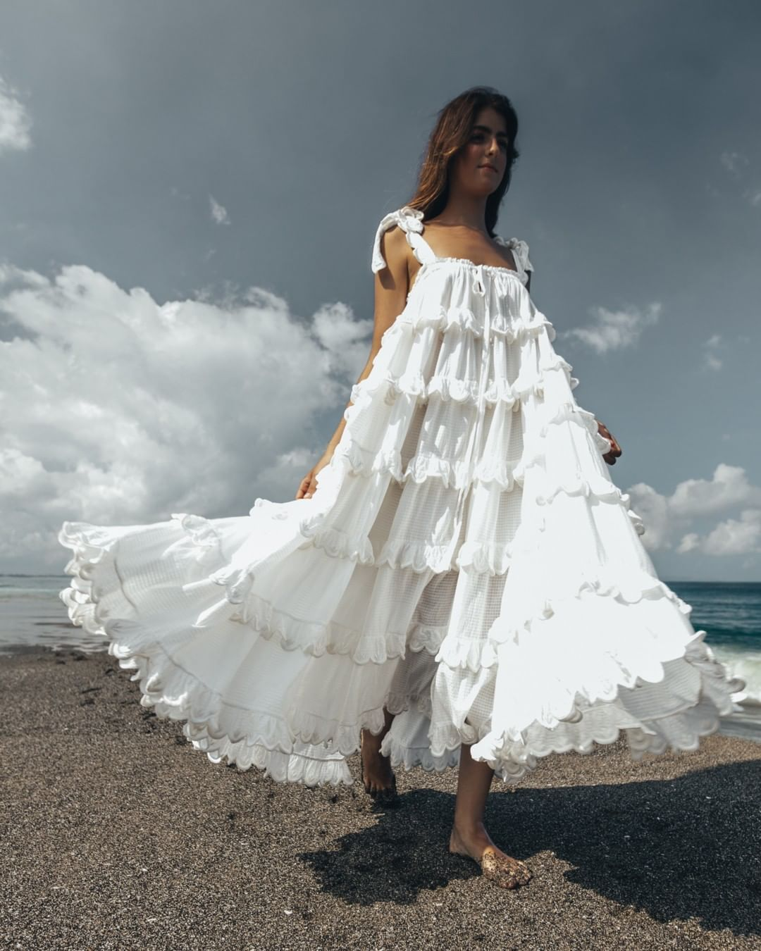 I N N I K A C H O O On Instagram Nothing We Love More Than Our Magical Scallop Frill Dress We Hope You Love Her Fashion Beach Maxi Dress Girls White Dress [ 1350 x 1080 Pixel ]