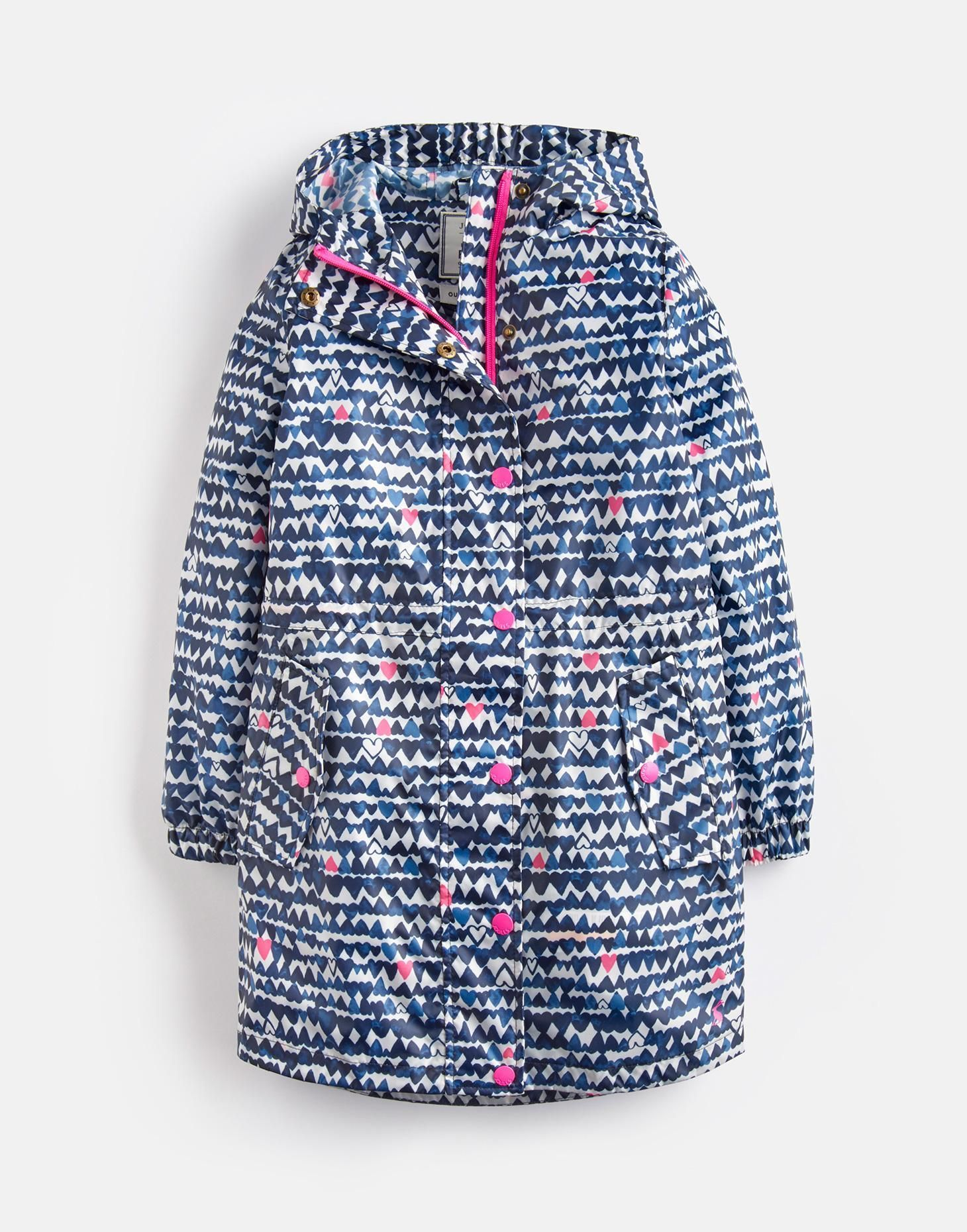 a26e1c4ee41f Golightly NAVY HEARTS Waterproof Packaway Jacket 3-12yr
