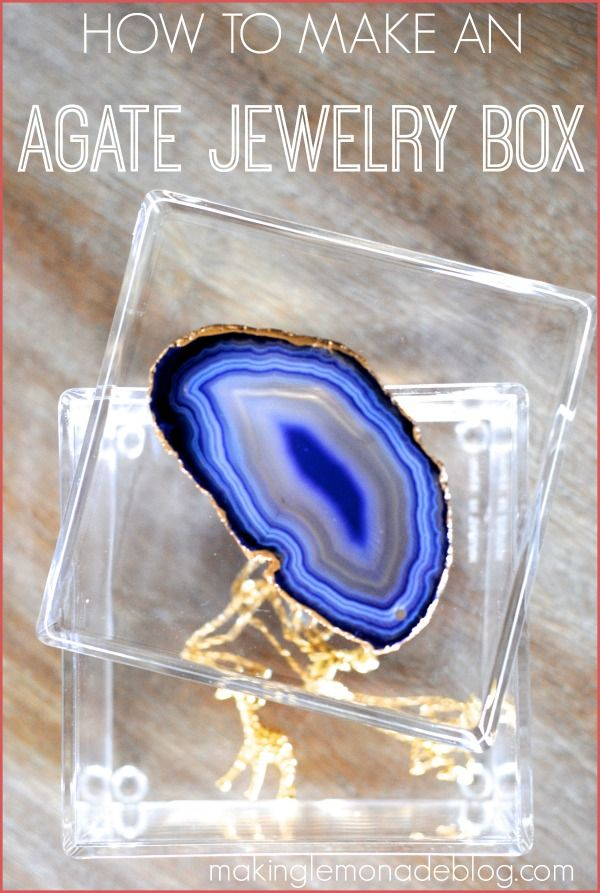 Make a gorgeous gilded agate slice box for WAY less than retail-- here's how!…