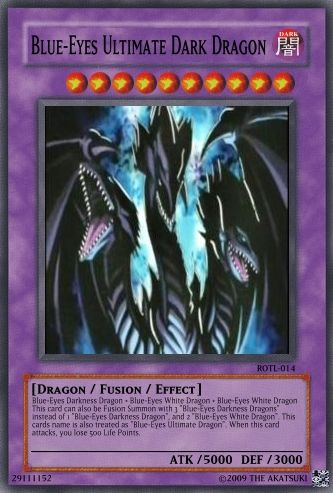 Blue Eyes Ultimate Dark Dragon With Images Yugioh Dragon Cards