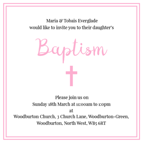 Baptism Planning Made Easy Send Our Online Christening Invitations