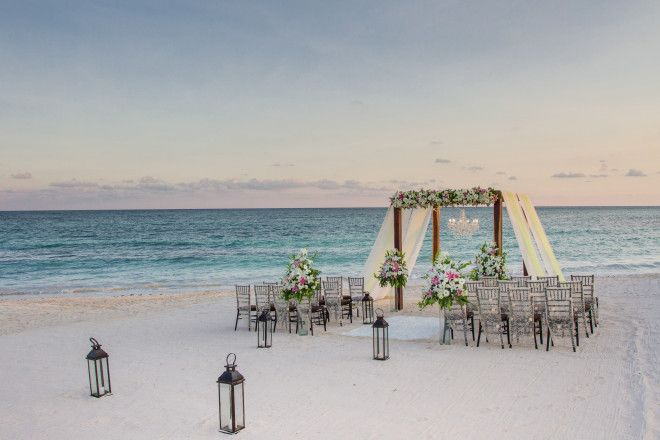 Gorgeous Beach Wedding Ceremony