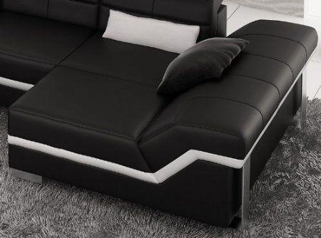 Amazon Com Black White Modern Leather Sofa Ultra Modern