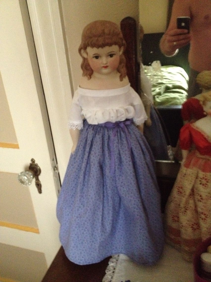 Repro doll, Currier and Ives head, possibly Mark Farmer? Exceptionally well made