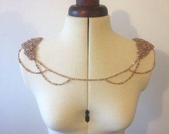 Rose Gold Shoulder Necklace Gold Shoulder Piece Silver Fashion