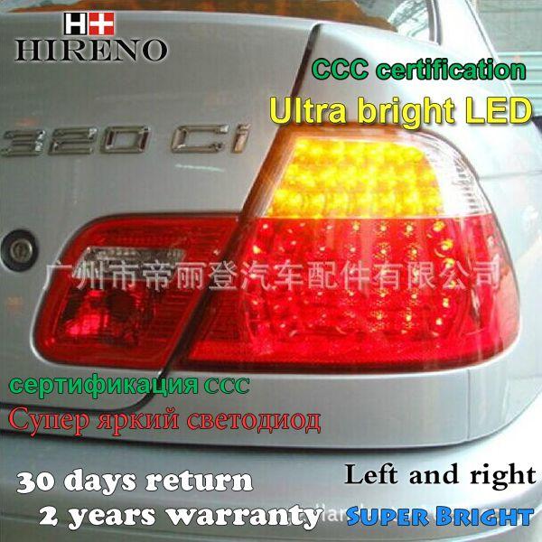Hireno Tail Lamp For Bmw E46 318i 320i 323i 325i 1998 2002 Led Taillight Rear Lamp Parking Brake Turn Signal Lights Car Lights Lights Bright Led