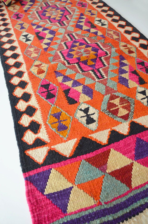 Vintage Turkish Kilim Rug Carpet