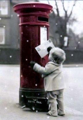 Little boy mailing letter to Santa Toni Kami Joyeux Noël Darling Christmas photography
