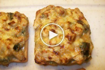 From the oven – chicken toast – recipe – Brötchen und Toast überbacken