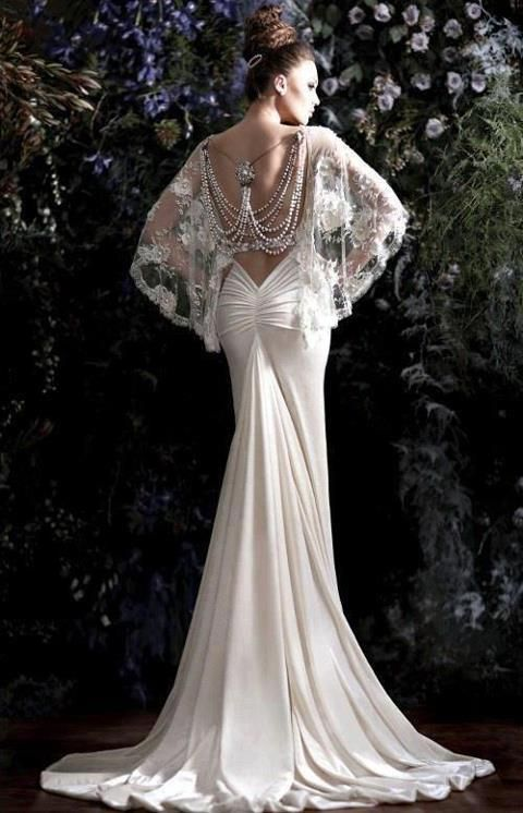 Nat Shermans and Guerlain. Old hollywood Great Gatsby wedding dress ...