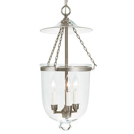 Clear Glass Bell Lantern