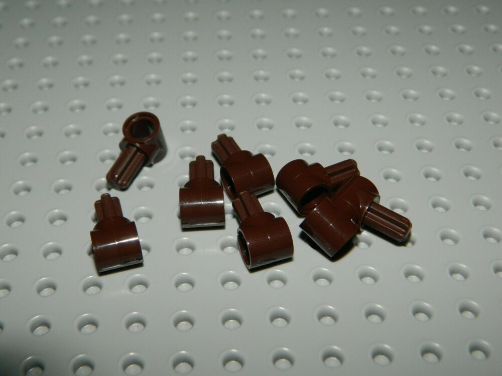 LEGO Lot of 4 Red 1x2-2x4 Space Bracket Pieces