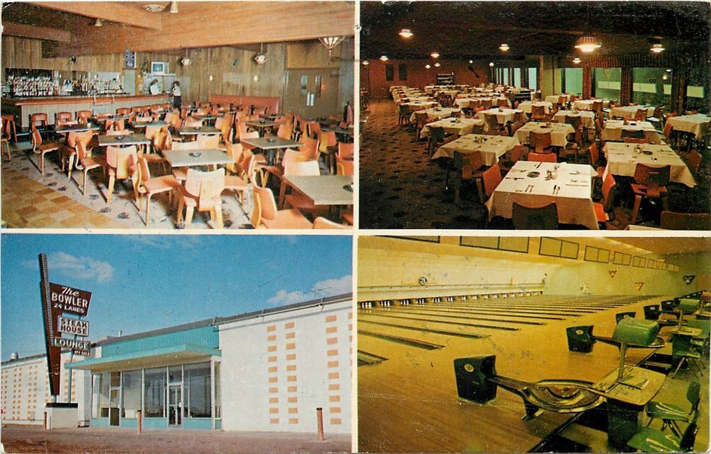 Fargo North Dakota The Bowler Art Deco Bowling Alley Dining 1973 Postcard Fargo North Dakota North Dakota Postcard