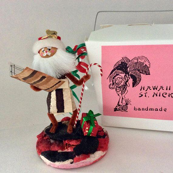 Hawaiian Santa - Mele Kalikmaka - lava - Hawaii St Nick - Christmas