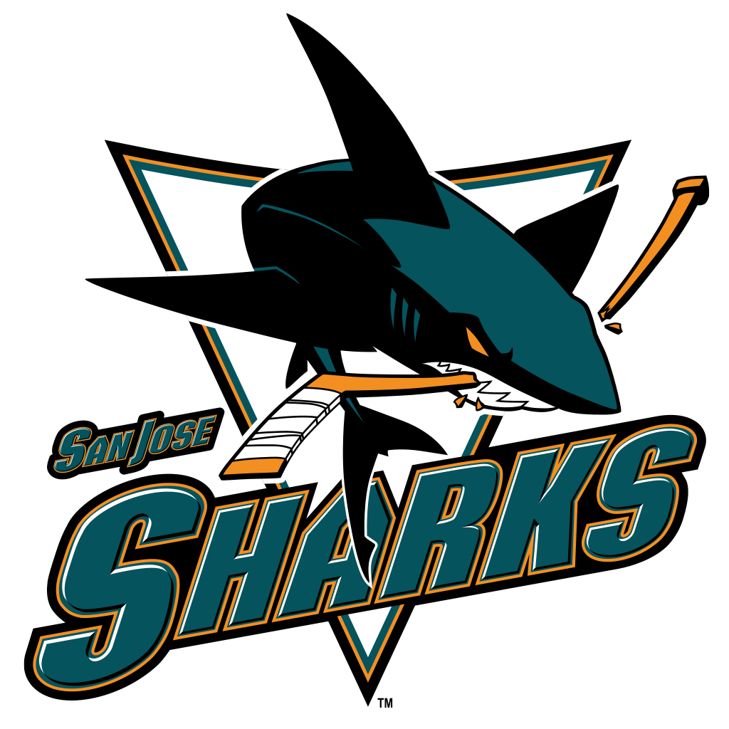 A Hockey Love Story Aaron And Kelly Dell San Jose Sharks Shark Logo San Jose Sharks Hockey
