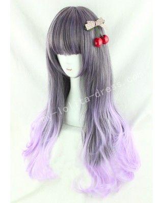 Japanese Dark Brown Purple Lolita Wig #lolita  #wig