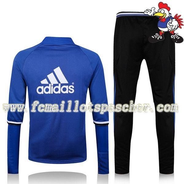 a8e79b3bcc6 acheter Sweat a Capuche Survetement Du Real Madrid Noir 16 17 18 Homme Kits pas  cher