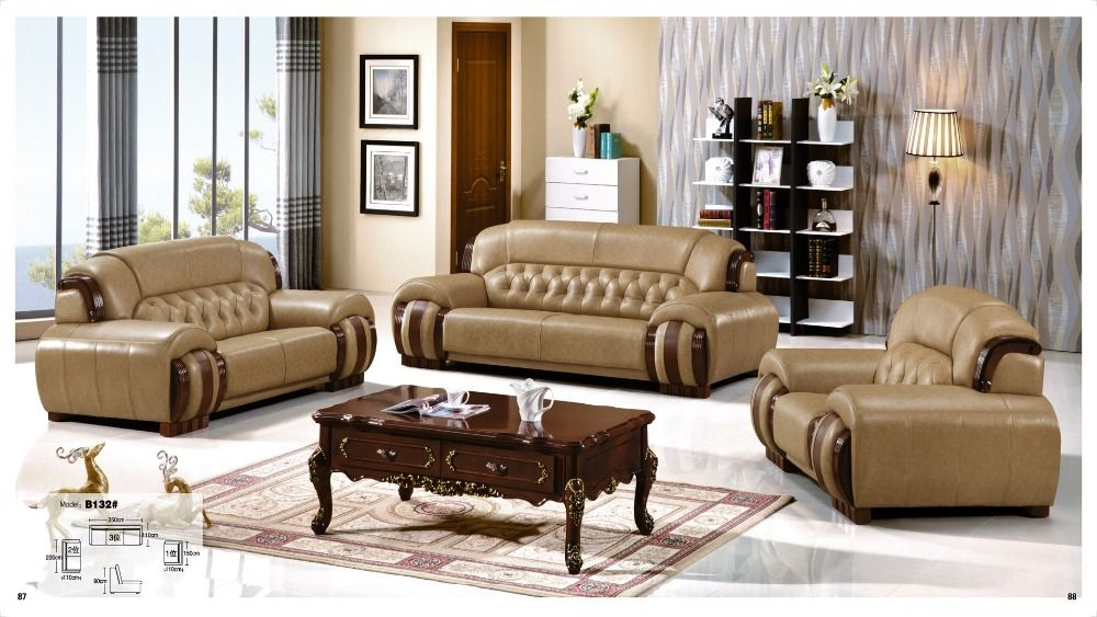 Iexcellent Modern Design Genuine Leather Sectional Sofa Sofa Set Living Room Furniture Leath Furniture Leather Living Room Furniture Genuine Leather Sectional