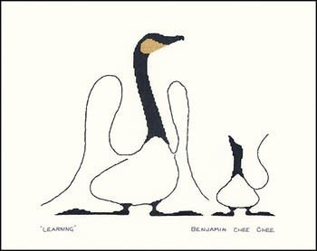 Canada Goose : Learning - Cross Stitch Pattern, by Stitching Studio (Benjamin Chee Chee)
