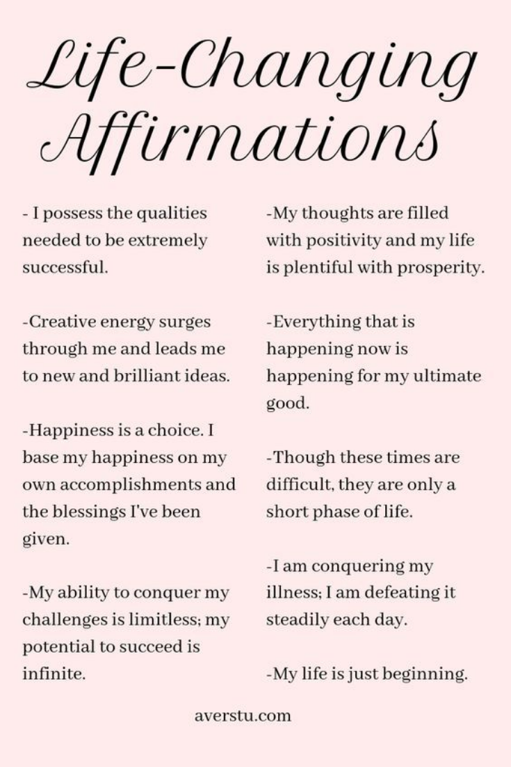 Positive Affirmations that will change your life