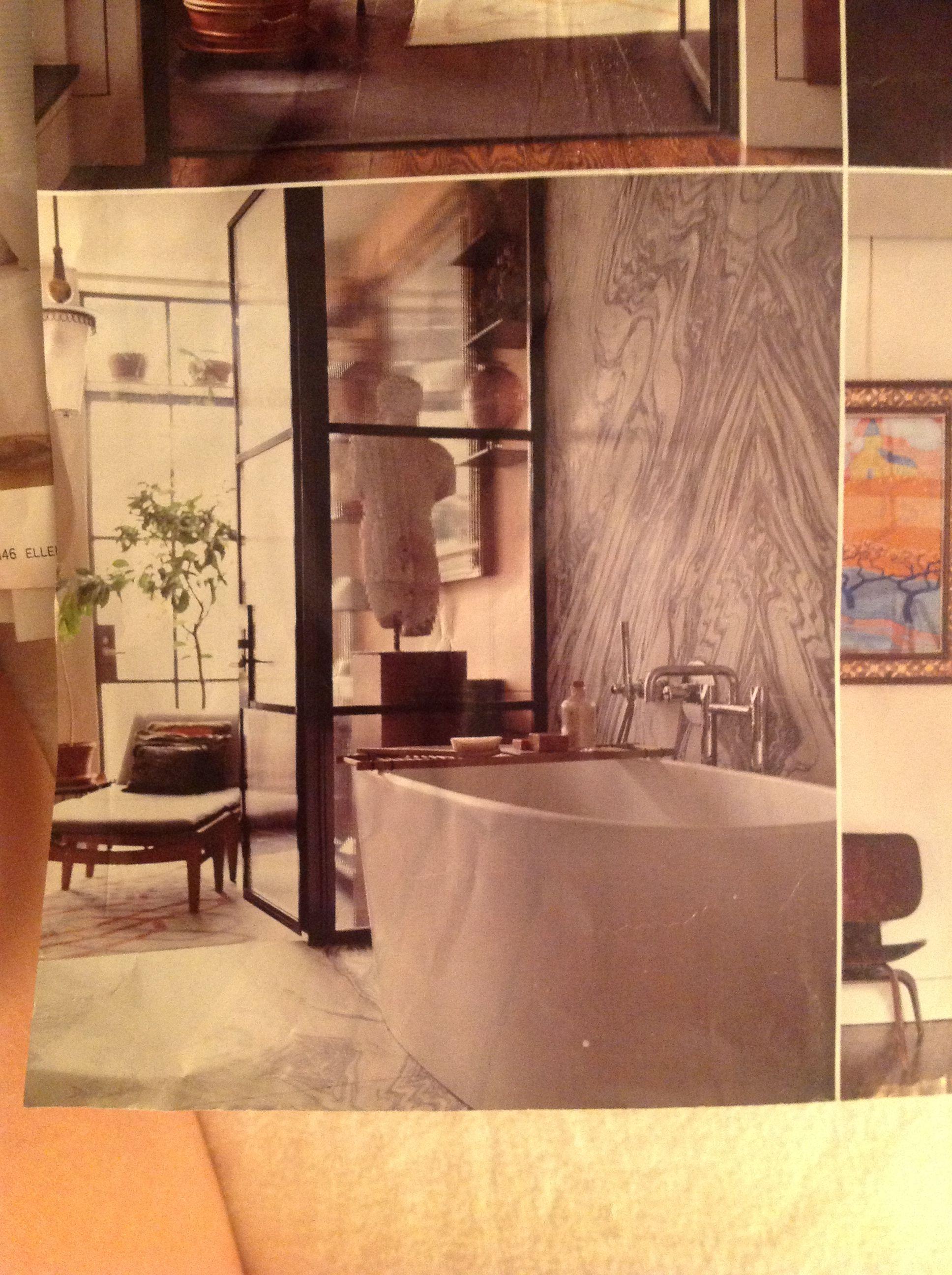 Bathroom interior wall marble up wall behind tub  bathrooms  pinterest  tubs marbles