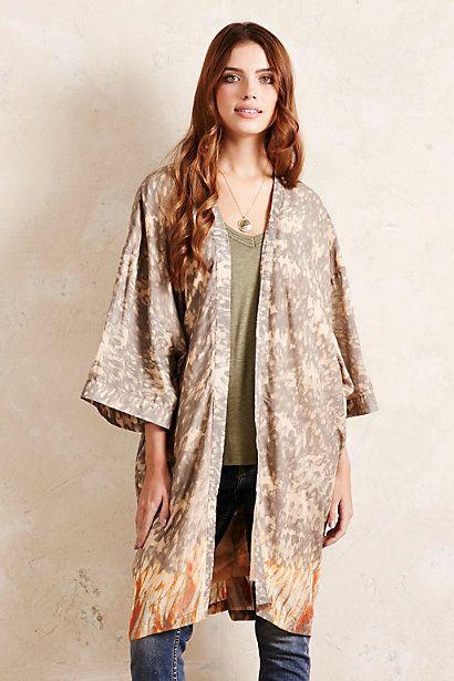 a178af69ec Anthropologie EU Mazarine Printed Kimono