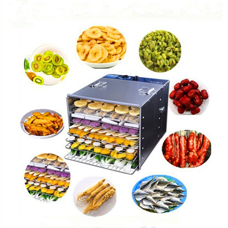 199.00$  Buy here - http://ai9q7.worlditems.win/all/product.php?id=1673913724 - Fruit vegetable drying machine home use stainless steel professional food dehydrator dryer machine
