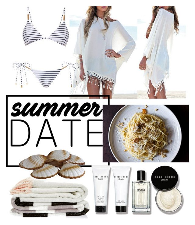 """Seafood"" by miisha-mykayla ❤ liked on Polyvore featuring Melissa Odabash, Bobbi Brown Cosmetics, beach and summerdate"
