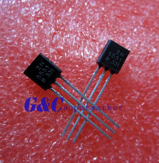 100PCS 2N5551 Transistor ON//FSC TO-92 NEW GOOD QUALITY