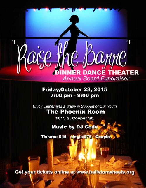 Discount Tickets For Raising The Barre Annual Dinner Dance