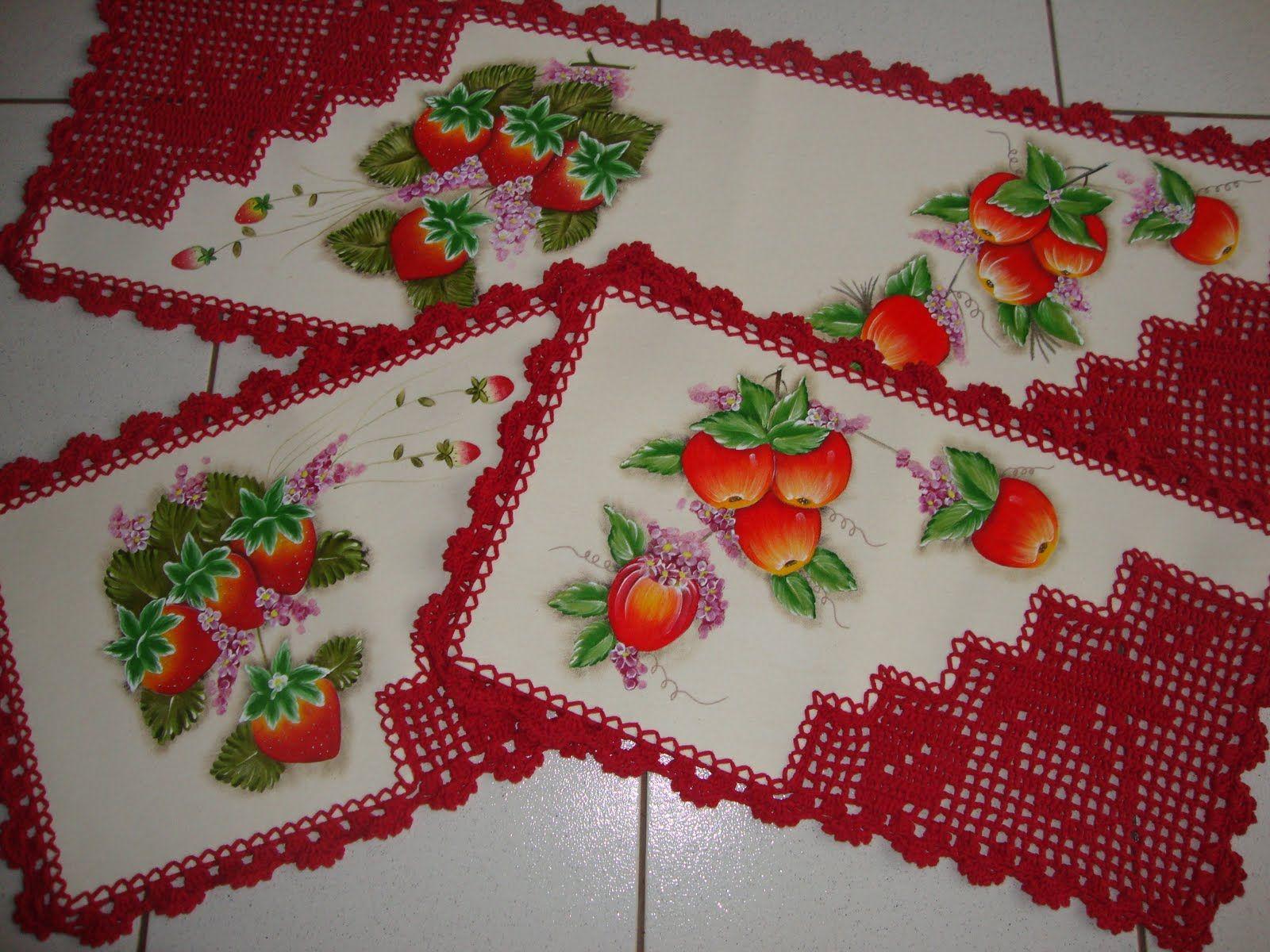 Sueli 002 Jpg 1600 1200 Tapetes Camino De Mesa Pinterest  -> Tapete De Tecido Para Cozinha