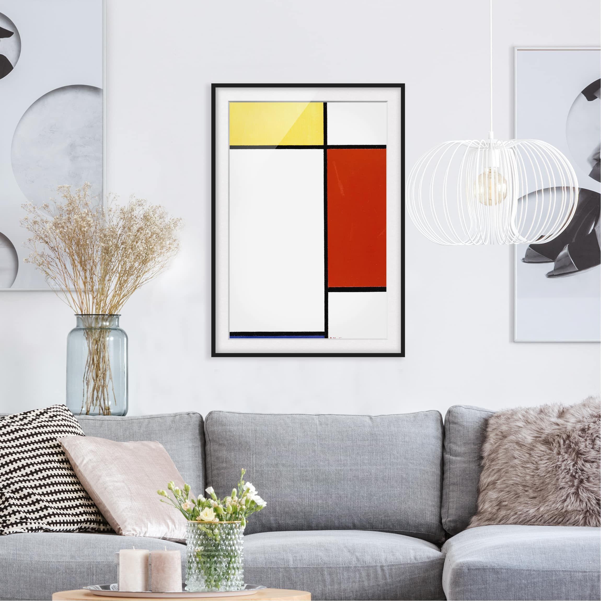 Poster con cornice Piet Mondrian Composition I