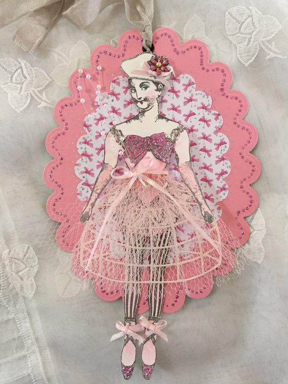 Huit Petites Filles Art Tag Paper Doll Handmade by ParisPluie