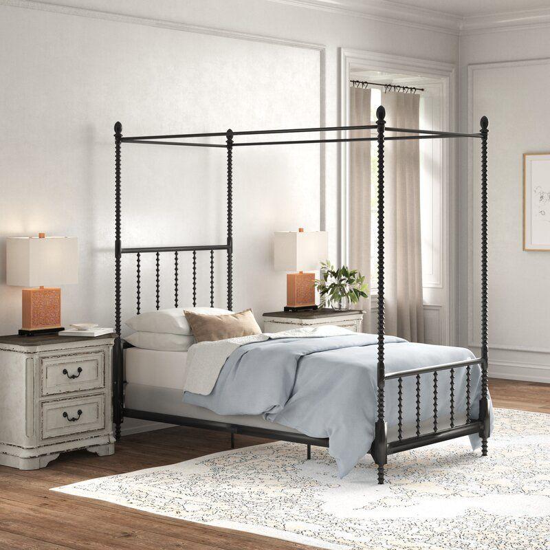 Baker Metal Canopy Bed in 2020 Metal canopy bed, Queen
