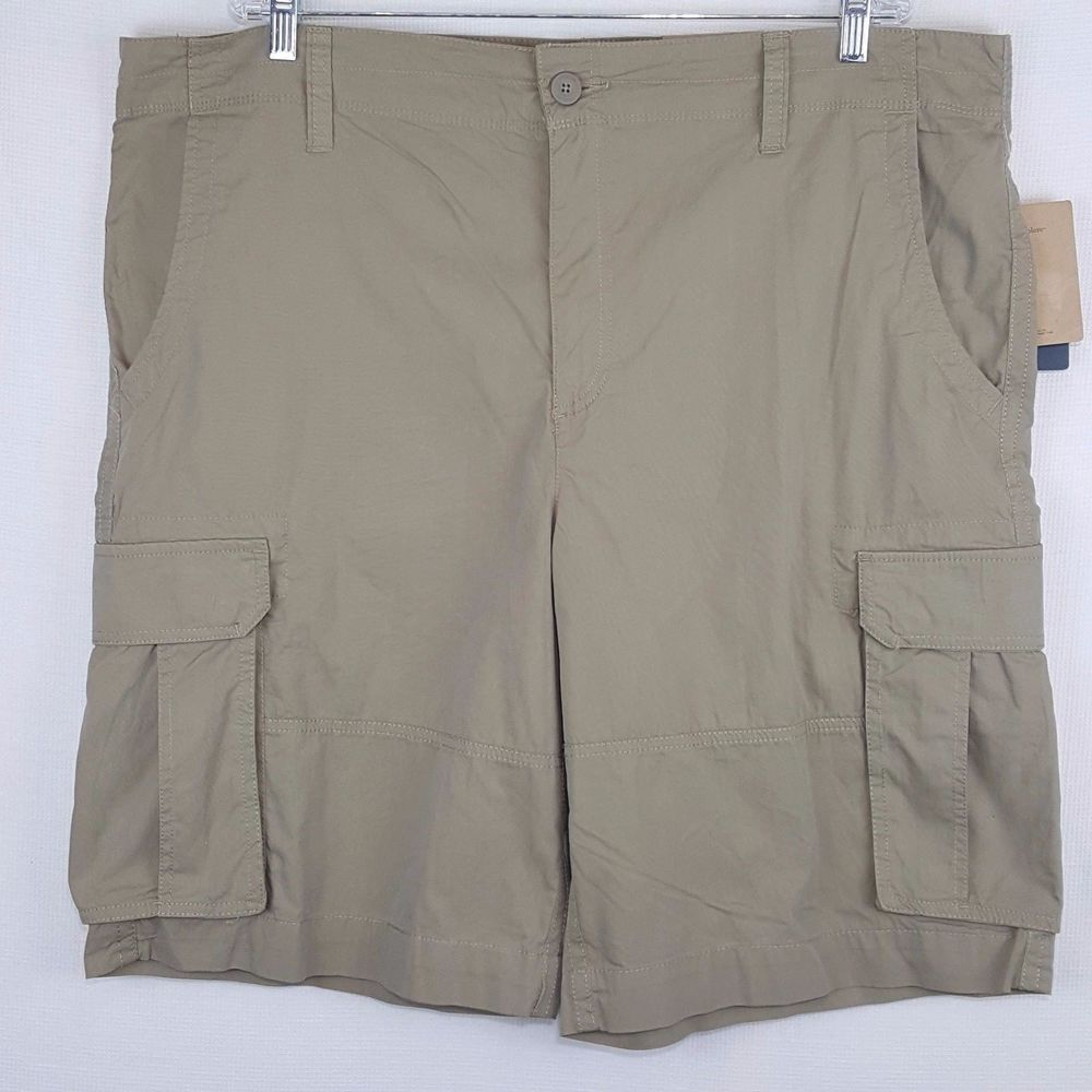 d828cdc424 Magellan Outdoors Mens Khaki Flat Front Cargo Shorts Size 42 Leg Pockets  NWT #Magellan #Cargo