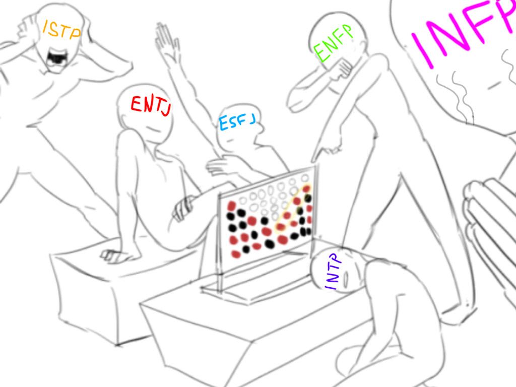 This is so accurate #DrawTheSquad #MBTI #ENFP #INFP #ISTP #ESFJ