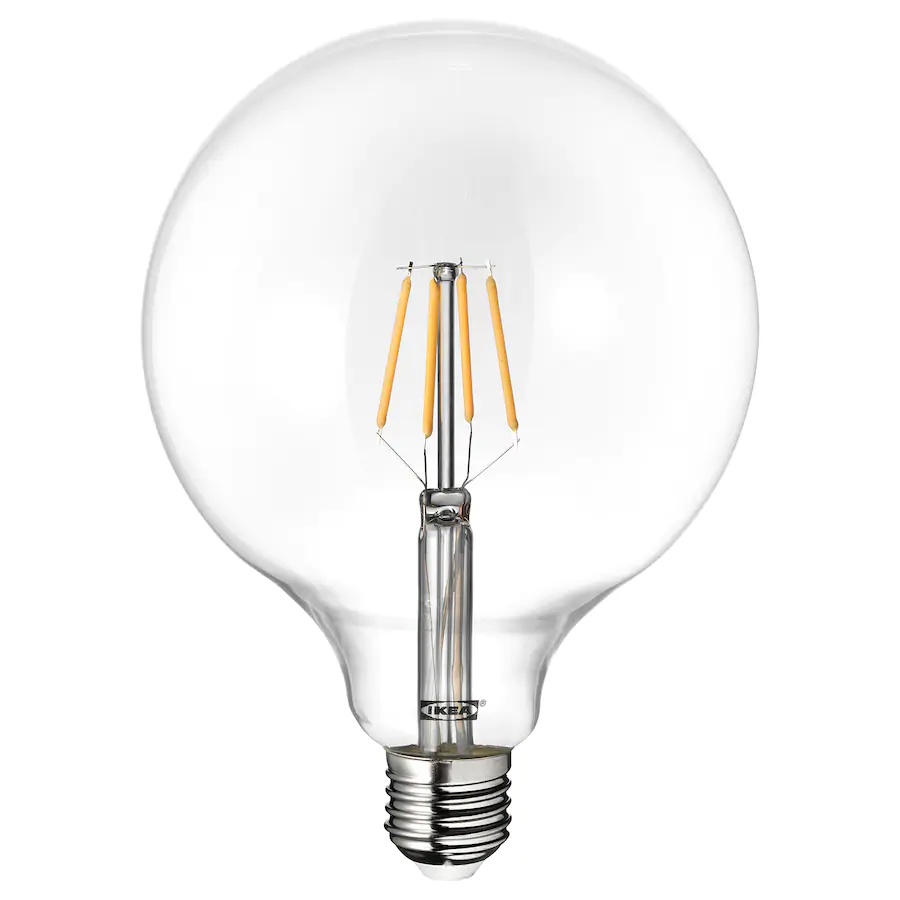 Lunnom Ampoule Led E27 600 Lumen Globe Verre Transparent Ikea In 2020 Helder Glas Light Bulb Led Lamp