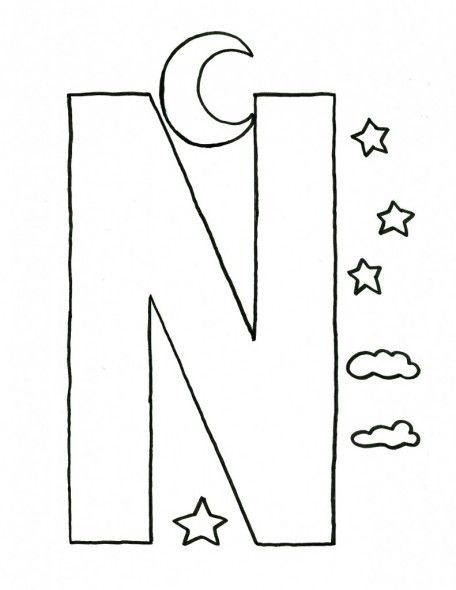 alphabet letter n craft template for kids letter n pinterest