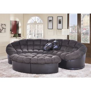 Diana 4 Piece Dark Green Papasan Modern Microfiber Sofa And Ottoman Set Ping S On Living Room Sets