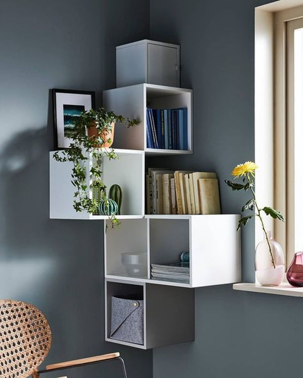 47 Amazing Wall Storage Items For Your Contemporary Living Room images