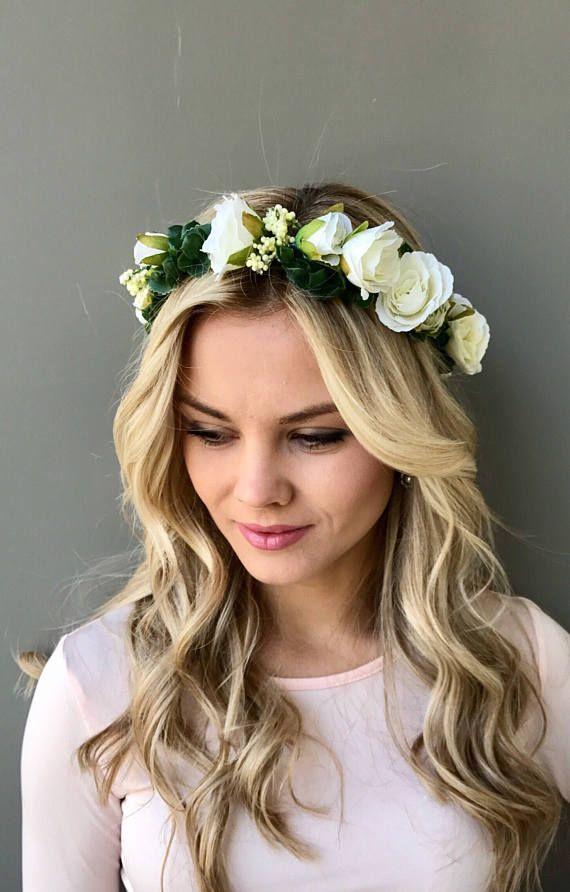 Bohemian Floral Crown Flower Headband Hair Garland Wedding Headdress