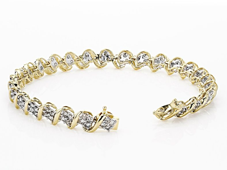 Diamond 10k Yellow Gold Bracelet 4 00ctw Cdg343 Gold Bracelet Yellow Gold Bracelet Bracelets